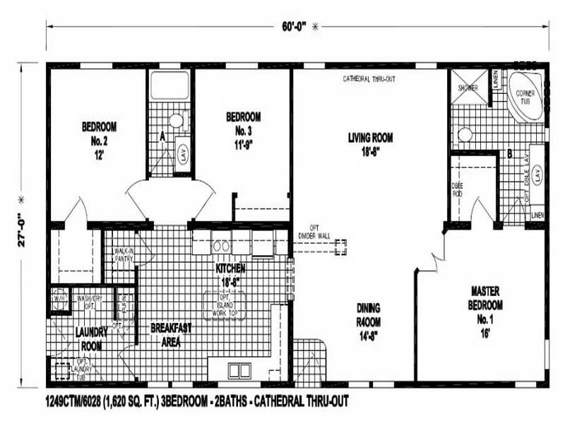 24 X 48 Double Wide Homes Floor Plans Modern Modular Home