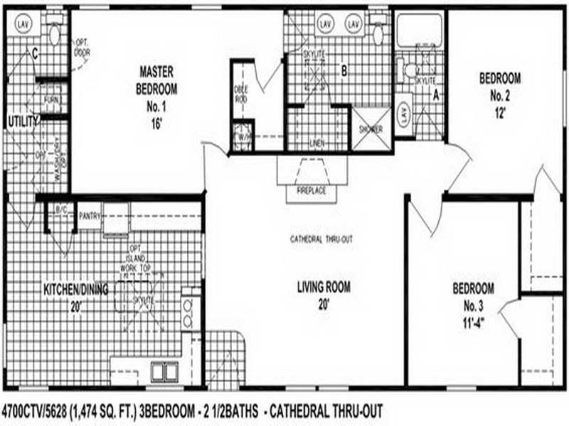 Clayton Double Wide Mobile Homes Floor Plans Modern Modular Home